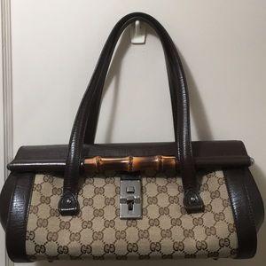 ⚜️EUC Gucci GG Monogram Bullet Bag